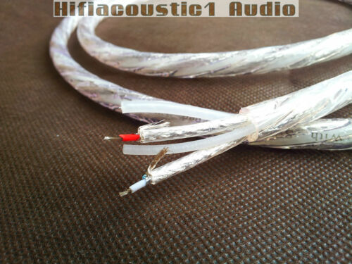 hifi Silver Plated Subwoofer Audio aux Y split Cable Rhodium 1 RCA To 2 RCA