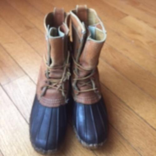 bellissimo VTG Uomo LL BEAN Maine Hunting stivali Tan Tan Tan Leather & Marrone Rubber SZ L8 USA Made  per il commercio all'ingrosso