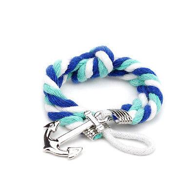 New Multilayer Unisex Couples Bracelet Men Women Anchor Woven Yarn Braided