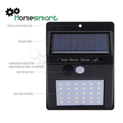 NEW Solar Power Sensor 12//20//30LED 48COB LED Outdoor Waterproof Wall Light AHS