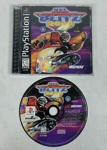 NFL-Blitz-2000-Sony-Playstation-1-PS1-1999-CIB-Complete-w-Manual