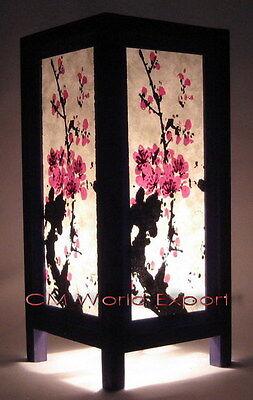 ASIAN HOME DECOR DESK, BEDROOM, LIVING ROOM LAMPS - CHERRY BLOSSOM TREE LAMP