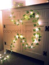 Ivy leaf garland 2m mini led fairy string lights wedding decoration woodland