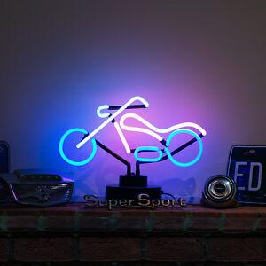 neon-SIGNE-bureau-magasin-Lampe-MOTO-CLASSIQUE-HARLEY-DAVIDSON-CHOPPER-CLAIR