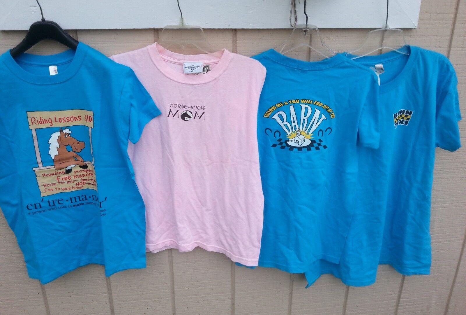 NEW Lot of 66 Horse Theme S S Tee Shirts S M L XL Stirrups J Lee Prairie Song