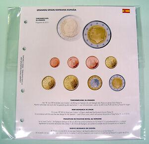 Lindner Formulaire Feuille De Kms 1 Cent - 2 Euro: Thronwechesl En Espagne (1109-52)-afficher Le Titre D'origine