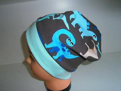 ♥ Nuovo-handmade ♥ Dinosauri ♥ Beanie Berretto ♥ ♥ Bambini Berretto ♥ Ku 38-58 ♥-dinos♥beanie♥mütze♥kindermütze♥ku 38-58♥ It-it Mostra Il Titolo Originale