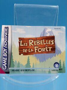 jeu-video-notice-BE-nintendo-gameboy-advance-FRA-les-rebelles-de-la-foret