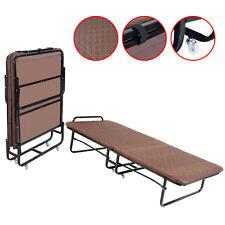 GOPLUS Folding Bed Foam Mattress Twin Roll Away Guest Portable Sleeper Coffee