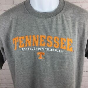 University-of-Tennessee-Volunteers-T-Shirt-Gray-Embroidered-Size-Medium