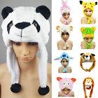 Cartoon Animal Hat Present Fashion Cute Plush Cap Unisex Fluffy for Him or Her