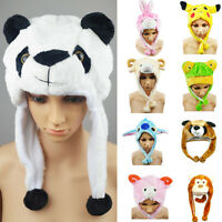 Cartoon Animal Hat Present Fashion Cute Plush Cap Unisex Fluffy for Him or Her