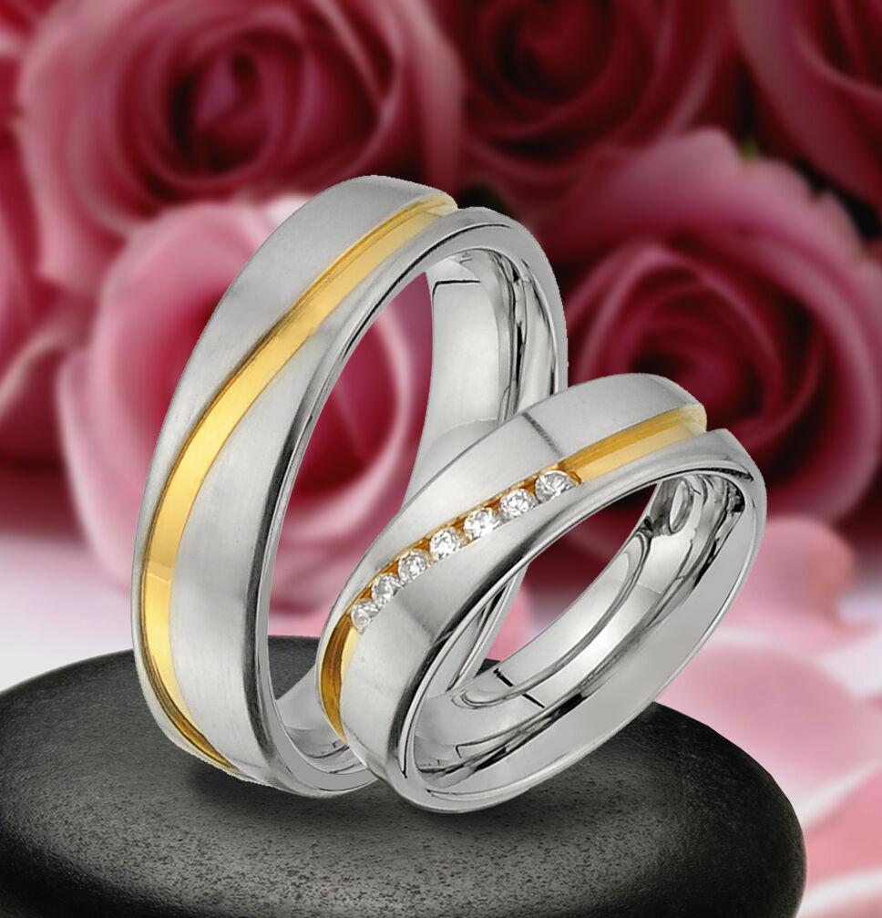 2 stupendi stupendi stupendi vere di fidanzamento con pietre & INCISIONE GRATIS-je200-7 9483cf