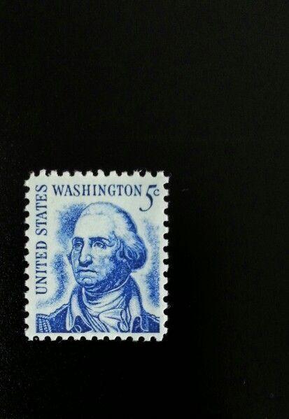1966 5c George Washington, Dirty Face Scott 1283 Mint F