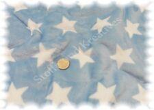 Kuschelnicky Sterne hell blau weiß Fleece Plüsch 50 cm Kuschelstoff Flausch