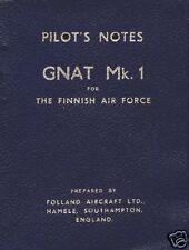 Folland Gnat Pilot's Notes Mk 1 1950's 60's HISTORIC MANUAL RAF JET  Red Arrows