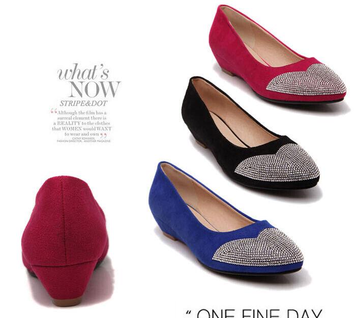 Casual salvaje Descuento por tiempo limitado comode ballerine scarpe donna colorate rosso blu nero tacco 3.5 cm 8805