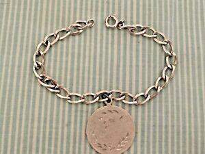 Sterling Silver Starter Charm Bracelet with Grandmother Charm