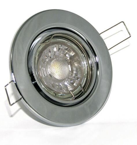 Decken Einbaurahmen Lia 230V High Power Led 7Watt = 52 W Lampe GU10 Dimmbar
