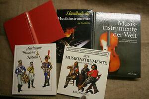 5-Sammlerbuecher-alte-historische-Musikinstrumente-Laute-Orgel-Instrumentenbau