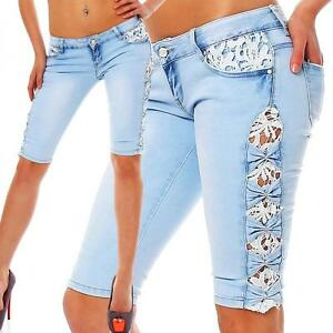 10553 sexy capri jeans bermuda short kurze hose hot pants. Black Bedroom Furniture Sets. Home Design Ideas