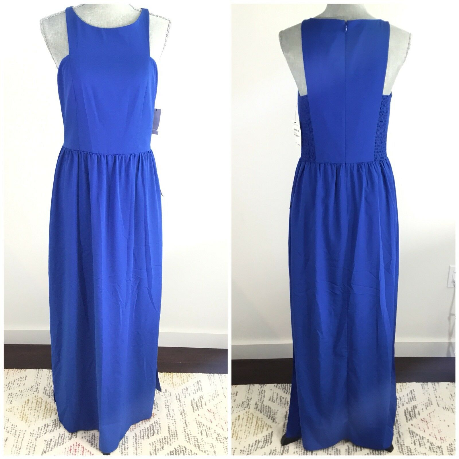 ce6566bdd127 CHELSEA28 Size 10 Cutaway Shoulder Maxi Cobalt bluee Dress Long Nordstrom