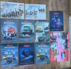 10-x-Schuco-A4-A3-colour-catalogues-brochures-poster-2005-to-2011-cars-figures