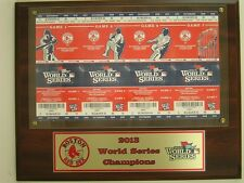 2013 World Series Tickets Slab Red Sox Games 1 2 6 & 7  Mounted on Plaque