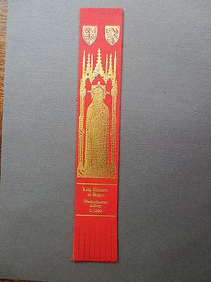 BOOKMARK LEATHER  Lady Alianore de Bohun Westminster Abbey Brass Rubbing c 1399