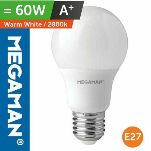 MEGAMAN 9.5W LED GLS LAMP 60 WATT LOW ENERGY REPLACEMENT LIGHT BULB WARM WHITE