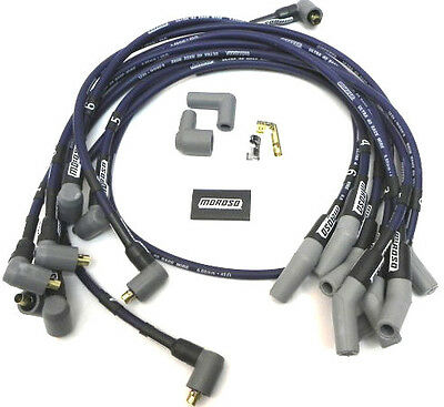 SBF Ford 289 302 HEI Ignition Blue Cap Distributor /& Moroso Race Wires 135*