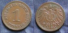 MONETA COIN MONNAIE EMPIRE GERMANY IMPERO GERMANIA 1 PFENNING 1901 (F) STUTTGART