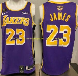 LEBRON JAMES LA Lakers Nike WISH Purple KOBE KB Patch NBA FINALS ...