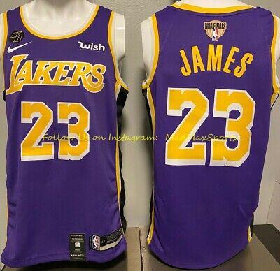 LEBRON JAMES LA Lakers Nike WISH Purple KOBE KB Patch NBA FINALS Swingman Jersey   eBay