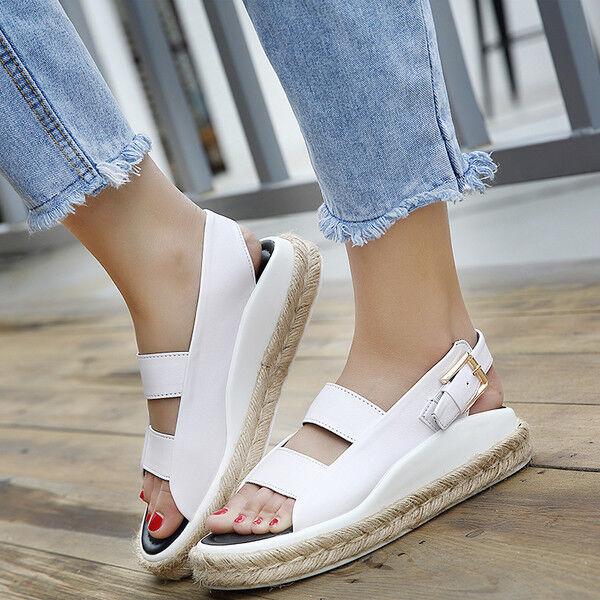 Sandali eleganti bassi simil  ciabatte colorati bianco corda comodi simil bassi pelle 1084 0e3e9d