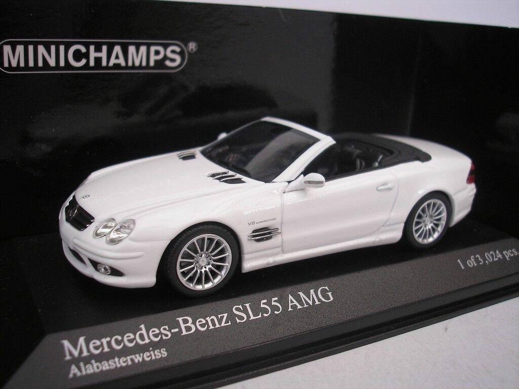 Mercedes Benz Sl 55 AMG 2007 Alabaster White 1 43 Minichamps 400036170 New