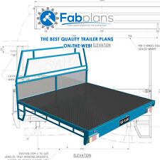 Dual Cab steel Tray Plans -1700x1800 - Build your own ute tray - A3+CDROM