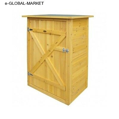 Garden Storage Cupboard Shed Wooden Small Outdoor Unit Store Tool Patio Mini