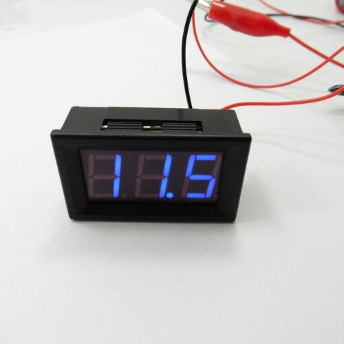 """7-150V Blu 0.56/"""" pannello a due fili voltmetro DC LED Display Digitale 100V 12V #G16"""