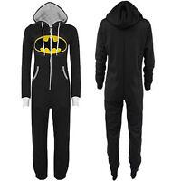 Batman Onesie Unisex Overalls Hooded Kigurumi Cosplay Costume Jumpsuit Playsuits