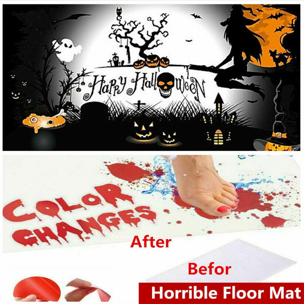 Horrible Floor Mat - Halloween Bloody Bath Mat Color changing Carpet 70cm x 40cm