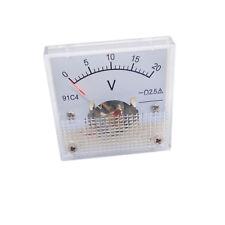 Us Stock Dc 0 20v Square Analog Volt Pointer Needle Panel Meter Voltmeter 91c4