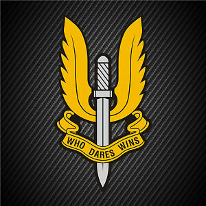 Details about Brittish Military SAS Special Forces Vinyl Graphics Decal  Sticker Car Window