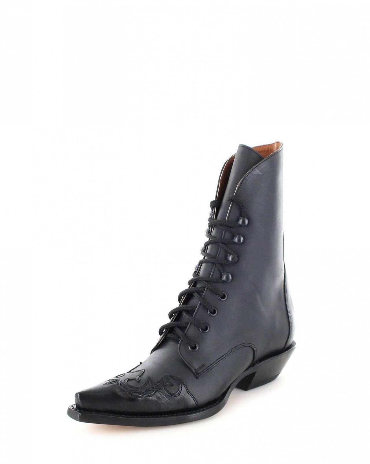 Mezcalero bottes à 0756 noir femme westernschnürbottesette