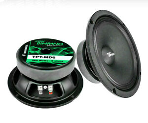 Pair-Timpano-TPT-MD6-6-034-Mid-Range-Loud-Speakers-Pro-Audio-260W-8-Ohm