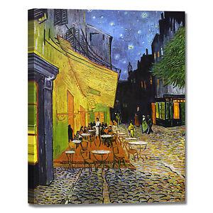 Dettagli Su Van Gogh Terrazza Del Caffè La Sera Quadro Stampa Tela Dipinto Telaio Arredo