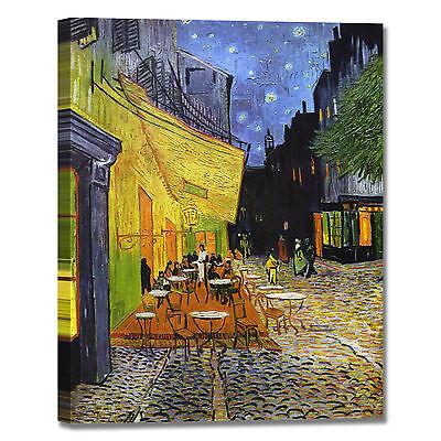 Van Gogh Terrazza Del Caffè La Sera Quadro Stampa Tela Dipinto Telaio Arredo Ebay