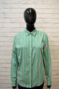 RALPH-LAUREN-Camicia-a-Righe-Donna-Taglia-L-Maglia-Camicetta-Mare-Shirt-Women-039-s