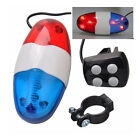 6 LED Bike Police Front Light Warning Siren Sound Cycling Electric Horn Bell New