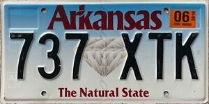 GENUINE-Arkansas-Natural-State-Diamond-USA-License-Licence-Number-Plate-737-XTK